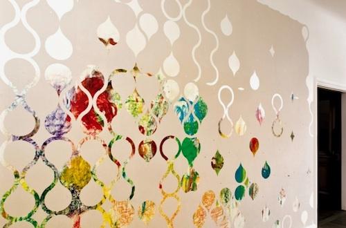 kreativní polepy na stěnu