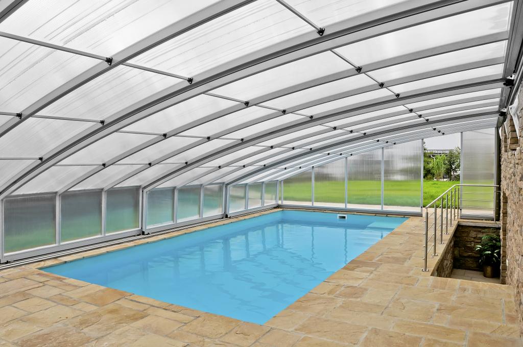 atypicky zastřešený bazén