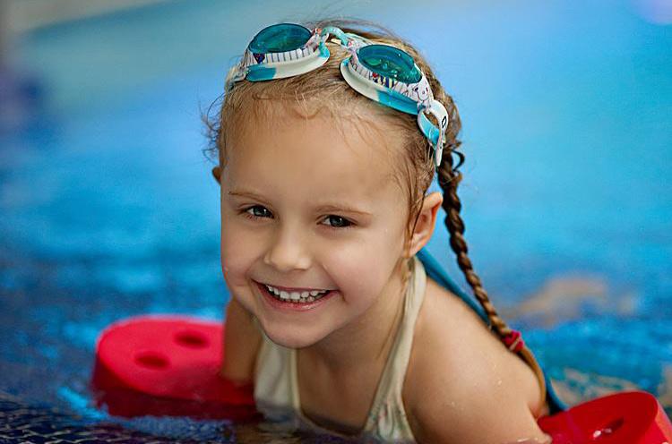 foto v bazénu