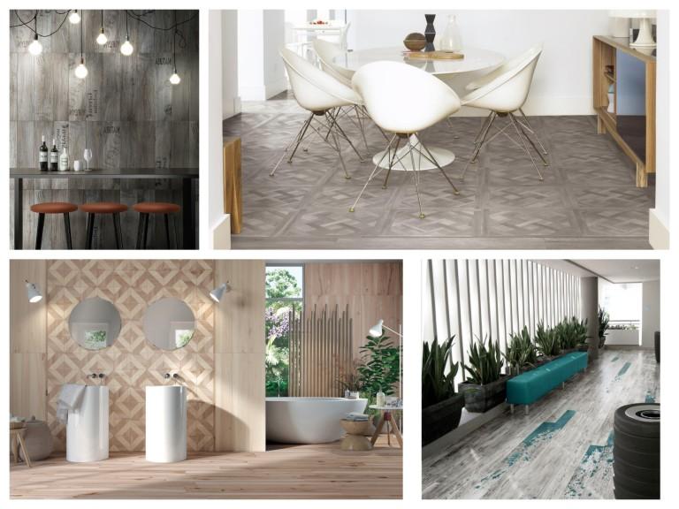 Dekory v dlažbě v imitaci dřeva oživí každý prostor