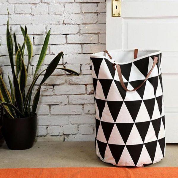 stylish-monohrome-triangle-print-laundry-basket-600x600