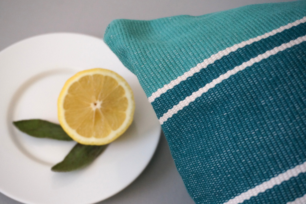 Striped-turquoise-pillow