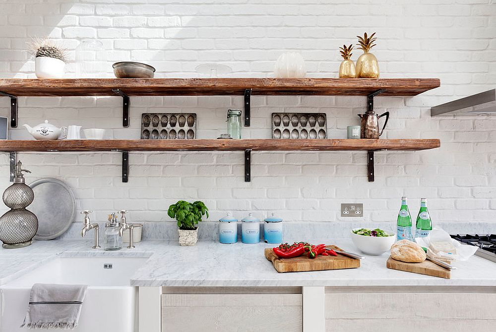 All-white-kitchen-with-slim-and-rustic-open-shelves