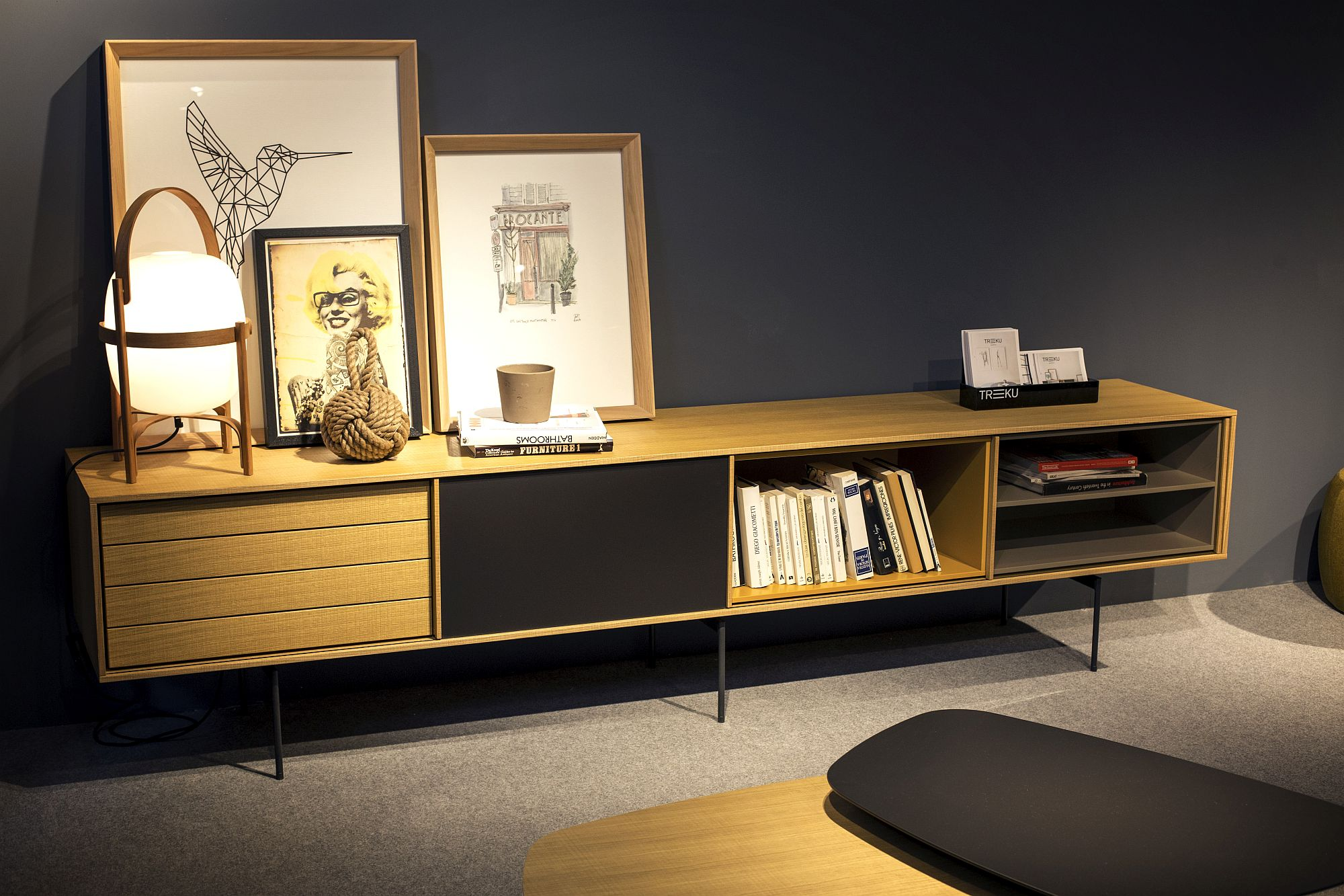 Midcentury-modern-sideboard-can-also-offer-storage-space